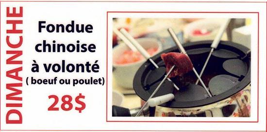 Dimanche - fondue chinoise